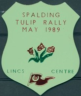 Badge R - Spalding Tulip Rally - May 1989 - Lincs Centre - Autres Collections