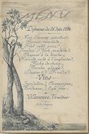 Menu Dejeuner 26 Juin 1896-villeneuve Traiteur Auto-gregoire - Menus