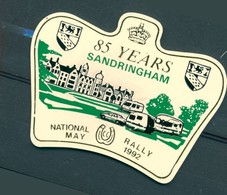 Badge  - National Rally - 85 Years - Sandringham - May 1992 - Autres Collections