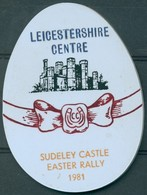 Badge  - Leicestershire Centre - Sudeley Castle - Easter Rally - 1981 - Autres Collections