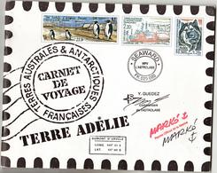 TAAF Carnet 2001 Cachet 11 2007 Et Commémoratifs Sur Feuille(scan, Feuillet Central Sans Cachet Neuf ** MNH Sin Charmela - Booklets