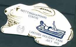 Badge - Nottinghamshire Centre - Lakeside Holiday Park - July 1992 - Autres Collections