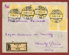Infla Ab 1 Aug 1923  Ausland Reco Brief  Perfins W B V - 1918-1945 1. Republik