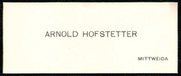 B7316 - Mittweida - Arnold Hofstetter - Visitenkarte - Visitenkarten