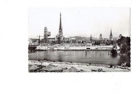 Cpa - 76 - Rouen - Cathédrale Vue De La Rive Gauche - Artaud 15 - Grue Travaux De Maçonnerie Agglos Pavés - Rouen