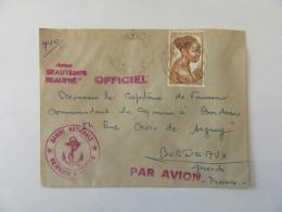 Enveloppe A.E.F Vers France (Marine Nationale) Avec Timbre YT N°224 - Beaux Cachets Dont Marine - A.E.F. (1936-1958)