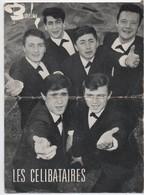 Portrait D'Artiste Carte Promotionnelle /Les CELIBATAIRES/ Barclay/Avec Autographes/ Publimages/ Années 1960     PA194 - Entertainers