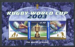 Australia 2003 Foglietto 100% Nuovo ** Rugby - Blocks & Sheetlets