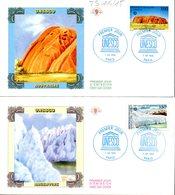 France Service 114/115 Glacier Antarctique, Argentina, Australia, Uluru Ayers Rock, UNESCO - Géologie