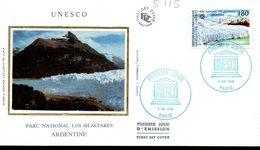 France Service 115 Glacier Antarctique, Argentina, UNESCO - Géologie