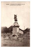 VILLENEUVE D' AMONT (25) - Le Monument Aux Morts - Ed. C. L. B., Besançon - Otros Municipios