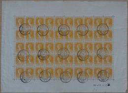 Nederland - 1924 - 35 Cent Regeringsjubileum NVPH 127B In Compleet Gestempeld Vel Van 50 Stuks, 10x 127 PM - Gebruikt