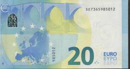 "EURO 20  ITALIA SE S017  ""36""  DRAGHI  UNC - EURO"