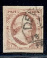 Nederland - 10 Cent Willem III, 1e Emissie Met DEVE(NTER) C - Periode 1852-1890 (Willem III)