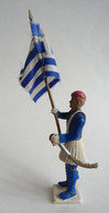 FIGURINE AOHNA ATHENA  SOLDAT GREC Rare PORTE DRAPEAU Soldat Figurines - Army