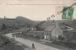 CPA [50] Manche > Environs De Sartilly - Le Tournant De La Route D'Avranches Et Les Bois Du Domaine De Mirande - Animée - France