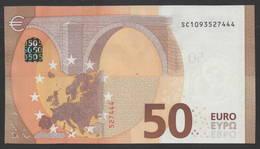 """50 EURO ITALIA  SC  S012  Ch. """"09""""  - DRAGHI   UNC - EURO"""