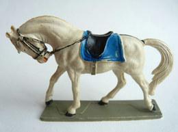 FIGURINE STARLUX 1972 CHEVAL NORDISTE BLANC Sans Cavalier (1) - Starlux