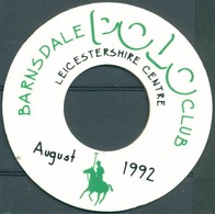 Badge - Polo Club - Leicestershire Centre - Barnsdale - August 1992 - Autres Collections