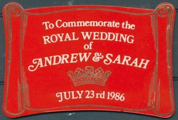Badge - To Commemorate The ROYAL WEDDING Of ANDREW & SARAH - JULY 23 Rd 1986 - Autres Collections