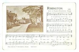 Vintage, Duckworth's Hymn Tunes. Rimington, Lancashire, Vignette. Printed Pc, Unused. - Music And Musicians