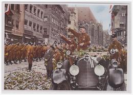Dt.-Reich (000156) Propaganda Sammelbild Farbig!!, Deutschland Erwacht, Bild 37, Dritter Parteitag 1929 In Nürnberg - Germany