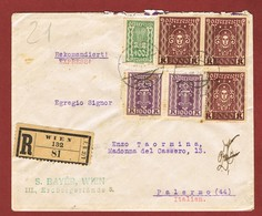 Infla Ab 1 Dez. 1923  Ausland   Brief Reco Express Sondertarif  2 Scan - 1918-1945 1. Republik