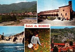 PIACENZA - Saluti Da Bobbio - 5 Vedute - Bambina Che Raccoglie Funghi - 1986 - Piacenza