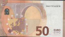 """50 EURO ITALIA  SB  S011 Ch """"17"""" - DRAGHI   UNC - EURO"""
