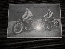Moto Motorfiets  Motorfietsen Motocyclette - Acrobatie Circus Cirque - Miss Madgray En J. Klinger - Motos