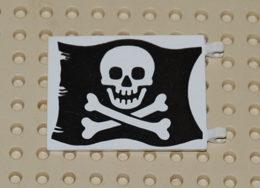 Lego Flag Drapeau Pirate 6x4 Printed Ref 2525p01 - Lego Technic