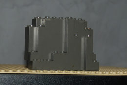 Légo Rocher Gris Foncé Ref 6082 4x10x6 - Lego Technic