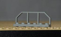 Légo Barriere Gris Clair 1 X 6 Pour Train Wagon Ref 6583 - Lego Technic