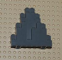 Lego Rock Rocher Gris Foncé 3 X 8 X 7 Triangular Ref 6083 - Lego Technic