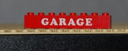 Lego Brique Rouge 1 X 8 Avec Motif Blanc GARAGE Ref 3008pb021 - Lego Technic