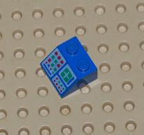 Lego Brique Pente 45 2 X 2 Avec Motif De Panneau D.ordinateur Ref 3039p34 - Lego Technic