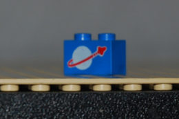 Lego Brique Bleu 1x2 Avec Motif Logo Espace Ref 3004p90 - Lego Technic