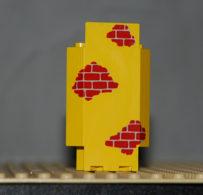 Lego Panneau Mural Jaune Avec Coins 3 X 3 X 6 Avec Motif Briques Rouges Ref 2345pb02 - Lego Technic