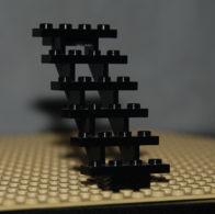 Lego éscalier Noir 7 X 4 X 6 Droits Ouverts Ref 30134 - Lego Technic
