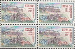 Estados Unidos 0764 ** MNH. 1964. Bloque De 4 - Nuovi