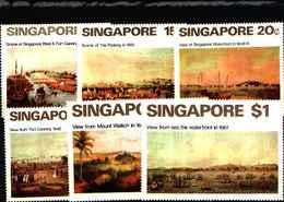 72160,) LOTTO DI  FRANCOBOLLI DI SINGAPORE-MNH** SERIE COMPLETA- N. 143-48-SINGAPORE DEL 19° SECOLO 1971 - Singapore (1959-...)
