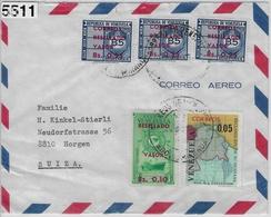 1965 Lettre Correo Aero To Horgen Suiza - Venezuela