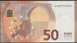 """50 EURO ITALIA  SA  S006  Ch """"07"""" - DRAGHI   UNC - EURO"""