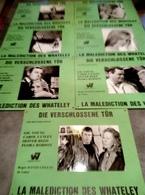7 Grandes Affichettes Photo Cartonnée, Promo Du Film Die Verschlossene Tür - La Porte Verrouillée (1967) Gig Young ... - Photographie