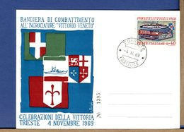 ITALIA - WWI - 1969 - TRIESTE - CELEBRAZIONI VITTORIA - BANDIERA DI COMBATTIMENTO ALL'INCROCIATORE VITTORIO VENETO - Guerre Mondiale (Première)