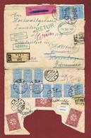 Infla Ab 1 Dez. 1923  Ausland    Reco Brief Irrlaufer 3 Scan - Brieven En Documenten
