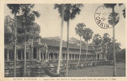 CARTE INDOCHINE. 12 8 1928. CAMBODGE AFFRANCHISSEMENT ANGKOR-LES-RUINES POUR TAM DAO TONKIN CACHET ARRIVEE 21 8 28 - Covers & Documents