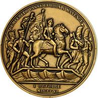 France, Médaille, Napoléon Ier, L'Empereur Passe Le Rhin à Mayence, Denon - Other