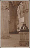 Font, Wells Cathedral, Somerset, C.1920 - Judges RP Postcard - Wells