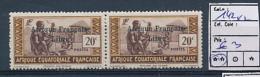 AEF FRANCE LIBRE YVERT 142 X 2 MNH - A.E.F. (1936-1958)